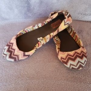 Missoni Shoes - Missoni multi colored chevron flats